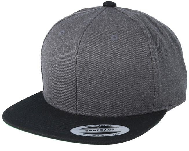 a701756135e21f Charcoal/Black Snapback - Yupoong caps | Hatstore.co.uk