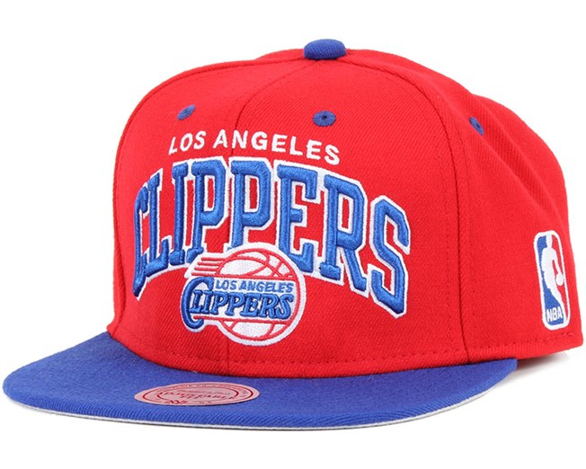 fa65a08f4ab LA Clippers Team Arch Snapback - Mitchell   Ness caps
