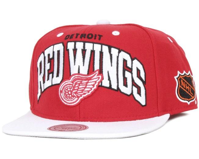 59cfe01b201 Detroit Red Wings Team Arch - Mitchell   Ness caps - Hatstoreworld.com