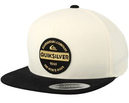 Firm Chowder White/Black Snapback - Quiksilver