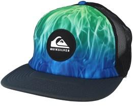 Brightlearnings Blue/Green Trucker - Quiksilver
