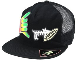 Kids Swaggles Black Trucker - Quiksilver
