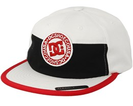 The Vial White/Black/Red Snapback - DC