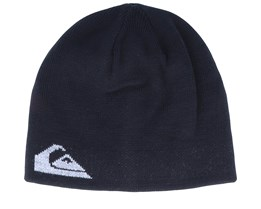 M&W Reversible Black/Grey Traditional Beanie - Quicksilver