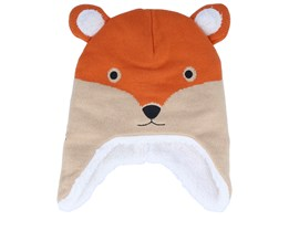 Kids Little Fox Orange/Beige Beanie - Quiksilver