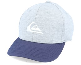 Kids Pinpoint Youth Heather Grey/Majolica Blue Adjustable - Quiksilver