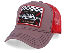 Live Fast Brown/Red Trucker - Von Dutch