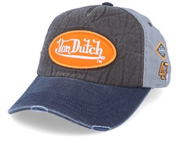 Oval Patch Washed Grey/Grey/Orange Adjustable - Von Dutch