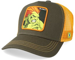 Street Fighter Blanka Olive/Orange Trucker - Capslab