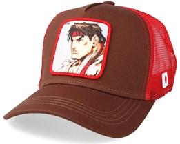 Street Fighter Ryu Brown/Red Trucker - Capslab