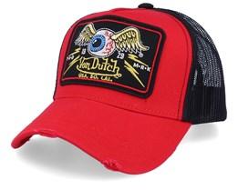 Flying Eye Patch Red/Black Trucker - Von Dutch