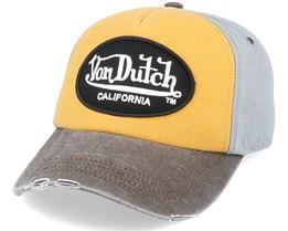 Oval Patch Jackgog Mustard/Brown/Grey Adjustable - Von Dutch