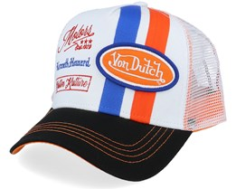 White/Black/Blue/Orange Trucker - Von Dutch