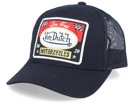 Live Fast Motorcycles Black Trucker - Von Dutch
