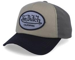 Oval Patch Canvas/Olive/Black Adjustable  - Von Dutch