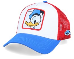 Disney Donald Duck White/Blue/Red Trucker - Capslab