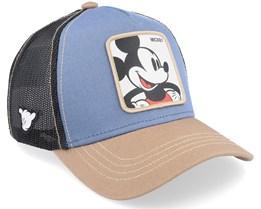 Disney Mickey Mouse Blue/Black/Brown Trucker - Capslab