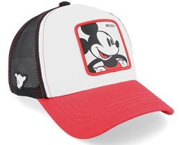 Disney Mickey White/Red/Black Trucker - Capslab
