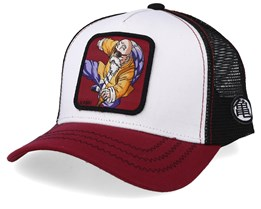 Dragon Ball Kame Sennin White/Burgundy/Black Trucker - Capslab