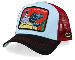 DC Comics Batman & Robin Light Blue/Black/Red Trucker - Capslab