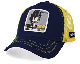 Dragon Ball Vegeta Navy/Yellow Trucker - Capslab