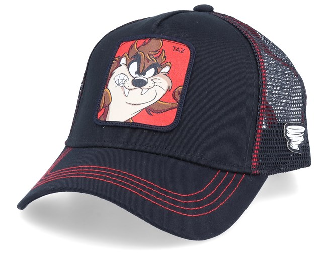 Looney Tunes Tasmanian Devil Black/Black/Red Trucker - Capslab