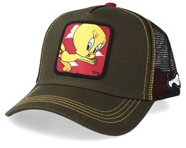 Looney Tunes Tweety Olive/Olive/Black Trucker - Capslab