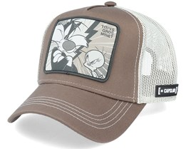 Looney Tunes Tweety and Sylvester Grey/White Trucker - Capslab