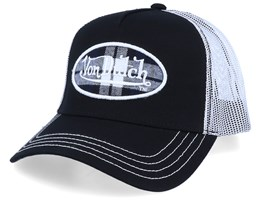 Oval Patch Black/White Trucker - Von Dutch