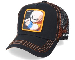 Dragon Ball Z Krillin Black/Orange Trucker - Capslab