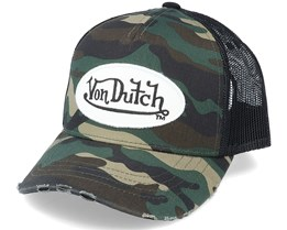 Kids 05b Camo/Black Trucker - Von Dutch