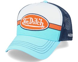 Apil White Blue/Orange/Navy Trucker - Von Dutch