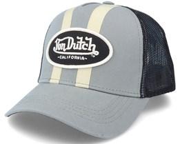 Stripes Grey/Black Trucker - Von Dutch