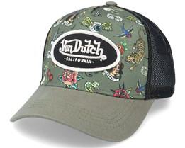 Tat K Olive/Black Trucker - Von Dutch