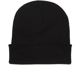 Knitted Beanie Black - Beanie Basic