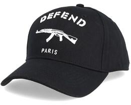 Basic Cap Black/White Adjustable - Defend Paris