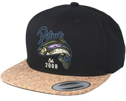 Bakers Black Denim Snapback - Picture