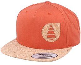 Narrow Burnt Orange/Cork Snapback - Picture