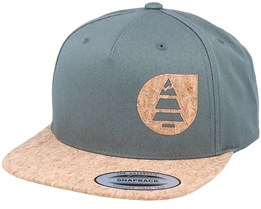 Narrow Army Green/Cork Snapback - Picture