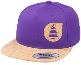 Narrow G Purple/Cork Snapback - Picture