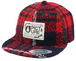 Pennington A Men Square Red/Black Strapback - Picture
