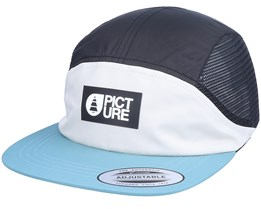 Shonto Cap White/Black/Hydro Blue 5-Panel - Picture
