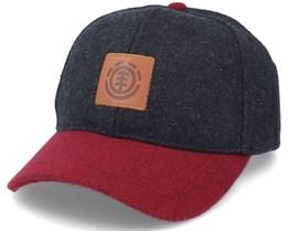 Treelogo Cap Off Black Heather/Burgundy Adjustable - Element