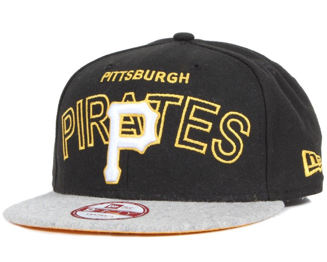 new concept 99982 85efd Pittsburgh Pirates Wordmark Center 9Fifty Snapback - New Era