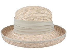 Hat In Straw Braid Linen Sand Straw Hat - Seeberger