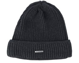 Merino Wool Black Beanie - Stetson