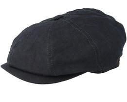 Hatteras Linen Black Flat Cap - Stetson