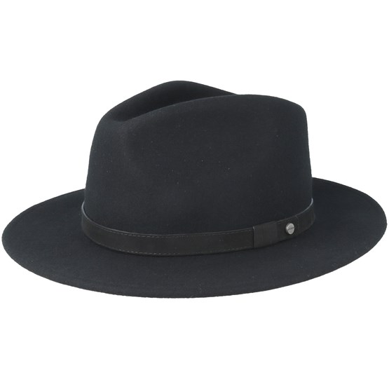 0c486306593d1 Yutan Flexible Woolfelt Black Trilby - Stetson hat - Hatstore.co.in