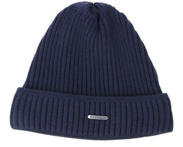 Merino Wool Navy Beanie - Stetson