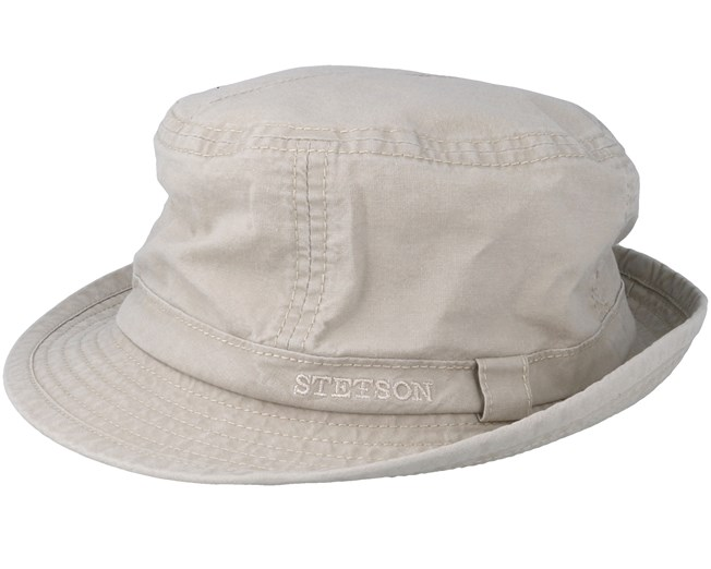 6fcaad70cd6ea8 Delave Organic Cotton Beige Trilby - Stetson hats | Hatstore.co.uk